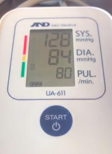 انتظر الجهاز ليقيس ضغط الدم